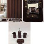 22-Piece-Bath-Accessory-Set-Chocolate-Brown-Bathroom-Rug-Set-Shower-Curtain-Accessories-0