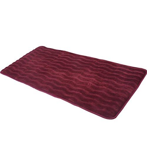 24-x-60-Non-slip-Back-Rug-Soft-Bathroom-Carpet-Memory-Foam-Bath-Mat-Wine-0