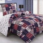 3-Piece-Baseball-Sports-Theme-Plaid-Red-White-and-Blue-Comforter-Set-FULL-Size-Bedding-Works-well-in-your-bedroom-Master-Room-Boys-Girls-Guest-Room-and-College-Dormitory-Great-Gift-Idea-0