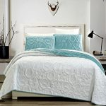 3-Piece-Tropical-Coast-Seashell-Beach-Bedspreads-Coverlet-Embossed-Bed-Cover-sets-Sea-Shells-Sea-Horse-Starfish-etc-Full-Queen-King-and-Cal-King-Bed-Cover-0-0