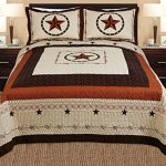 3-piece-Western-Lone-Star-Barb-Wire-Cabin-Lodge-Quilt-Bedspread-Coverlet-Set-0