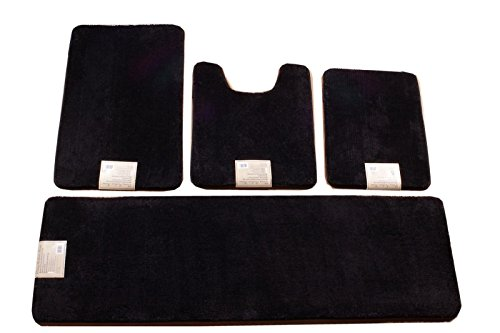 4-Piece-Solid-Extra-Long-Super-Soft-Non-Slip-Memory-Foam-Bathmats-20×64-0