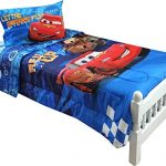 4pc-Disney-Cars-Twin-Bedding-Set-Lightning-McQueen-City-Limits-Comforter-and-Sheet-Set-0-0