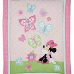 5-pieces-Disney-Minnie-Mouse-Butterfly-Charm-Crib-Bedding-Set-Bumper-Included-0-0