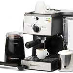 7-Pc-All-In-One-Espresso-Machine-Bundle-Set-INCLUDES-Electric-Coffee-Bean-Grinder-Portafilter-Stainless-Steel-Milk-Frothing-Cup-Measuring-Spoon-w-Tamper-2-Ceramic-Espresso-Cups-0