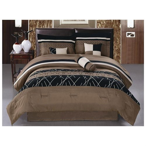 7-Piece-Luxury-Embroidery-Bed-in-bag-Microfiber-Comforter-set-0