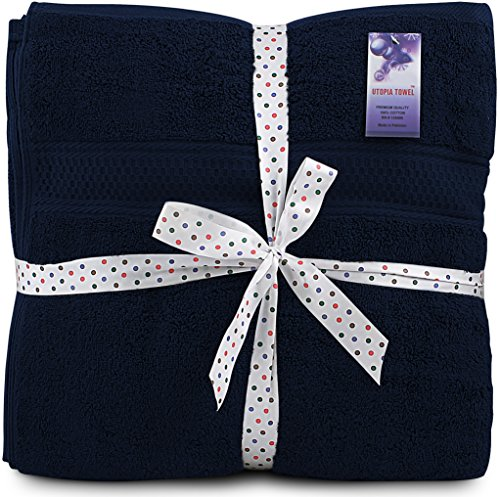 700-GSM-Premium-Bath-Towels-Set-Navy-Blue-4-Pack-27-X-54-Cotton-for-Hotel-Spa-Maximum-Softness-and-Absorbency-by-Utopia-Towels-0-0