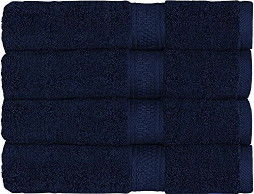 700-GSM-Premium-Bath-Towels-Set-Navy-Blue-4-Pack-27-X-54-Cotton-for-Hotel-Spa-Maximum-Softness-and-Absorbency-by-Utopia-Towels-0