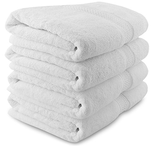 700-GSM-Premium-Bath-Towels-Set-White-4-Pack-27-X-54-Cotton-for-Hotel-Spa-Maximum-Softness-and-Absorbency-by-Utopia-Towels-0-0