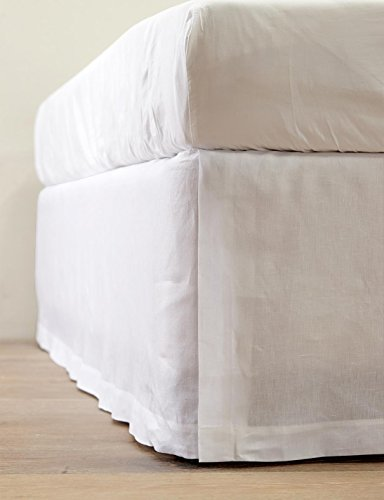 800-Thread-Count-Tailored-Pleated-Bedskirt-made-of-Single-Ply-Long-Staple-Egyptian-Cotton-15-inches-drop-with-perfect-fitting-for-bed-comes-with-100-SATISFACTION-AND-MONEY-BACK-GUARANTEE-0-0