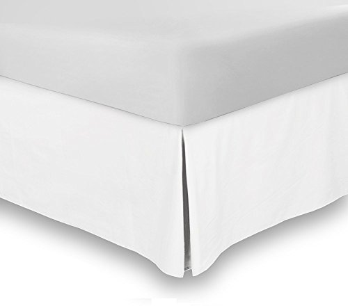 800-Thread-Count-Tailored-Pleated-Bedskirt-made-of-Single-Ply-Long-Staple-Egyptian-Cotton-15-inches-drop-with-perfect-fitting-for-bed-comes-with-100-SATISFACTION-AND-MONEY-BACK-GUARANTEE-0