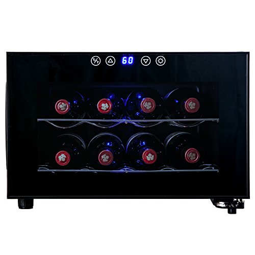 AKDY-Black-Freestanding-Thermoelectric-Counter-Wine-cooler-Cellar-Quiet-Operation-0-1