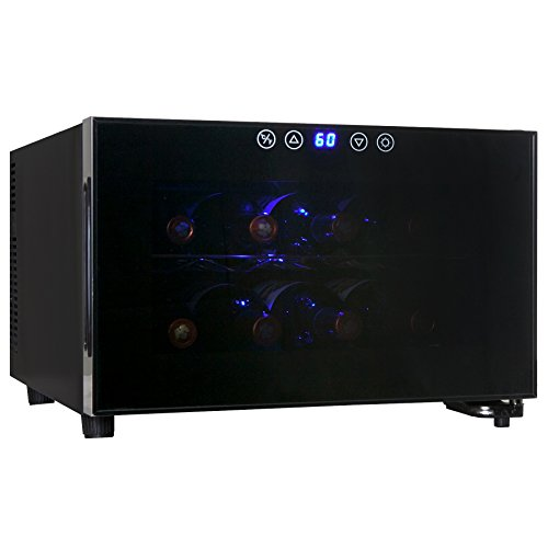 AKDY-Black-Freestanding-Thermoelectric-Counter-Wine-cooler-Cellar-Quiet-Operation-0