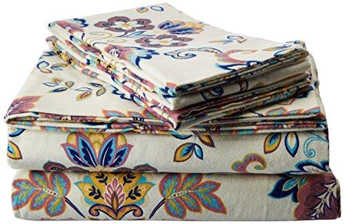 Abstract-Paisley-Printed-Deep-Pocket-Flannel-Sheet-Set-0