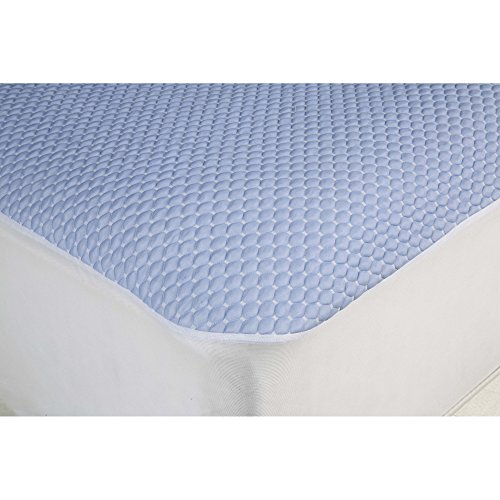 Aere-Crystal-Gel-Mattress-Protector-with-Cooling-Fibers-and-Blue-3-D-Fabric-Queen-0-1