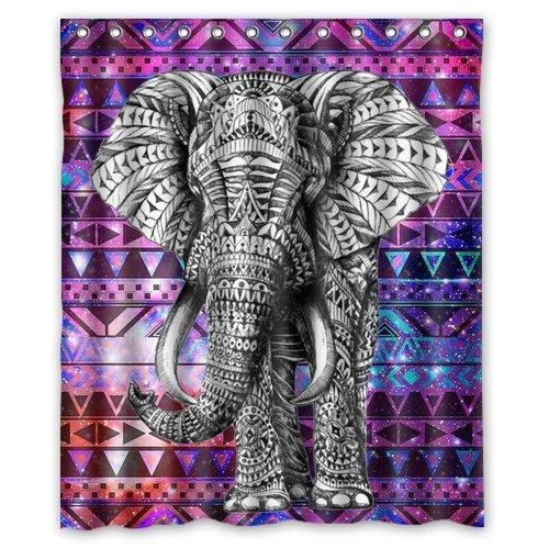 African-Elephant-72wx72hInch-Bathroom-Waterproof-Shower-Curtain-Bath-Curtains-6-0