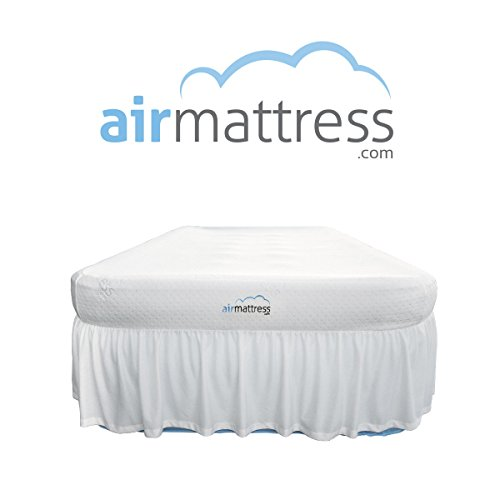 AirMattresscom-BEST-CHOICE-Air-Mattress-with-Hypoallergenic-Bamboo-Bed-Sheet-Skirt-and-High-Capacity-Air-Bed-Pump-0
