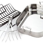All-Clad-501631-Stainless-Steel-Large-Roti-Combo-with-Rack-and-Turkey-Lifters-Cookware-Silver-0
