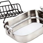 All-Clad-51114-Stainless-Steel-Petite-Roti-Pan-with-Nonstick-V-Shaped-Roasting-Rack-Cookware-Silver-0