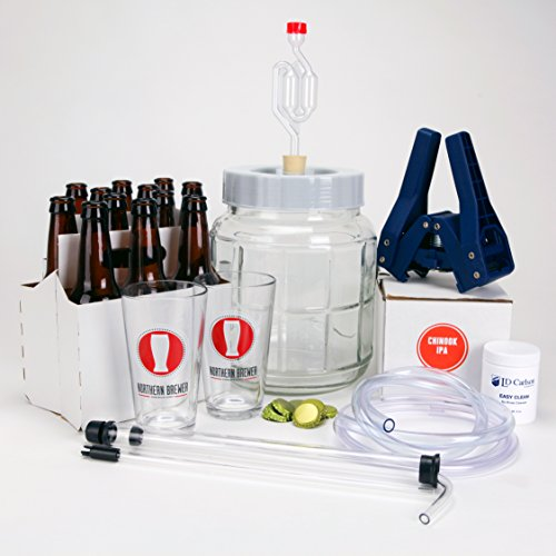 All-Inclusive-Go-Pro-1-Gallon-Small-Batch-Beer-Brewing-Starter-Kit-Equipment-Set-with-Chinook-IPA-Beer-Recipe-Kit-0