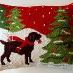 Alpine-Chocolate-Labrador-Retriever-Tree-Ornament-Wool-Dog-Throw-Pillow-14-X-18-0