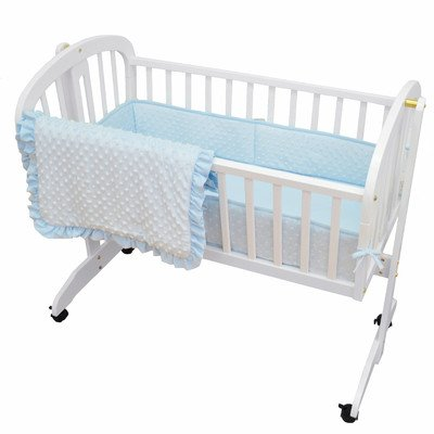 American-Baby-Company-Heavenly-Soft-Minky-Dot-3-Piece-Cradle-Set-0