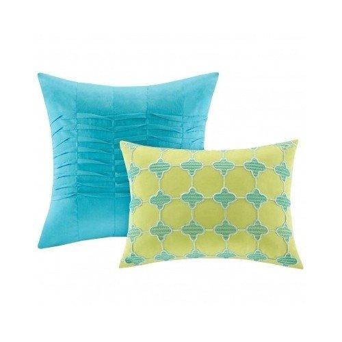 Aqua-Blue-Lime-Green-Floral-Damask-Print-Comforter-Bedding-Set-Girls-Teen-0-1