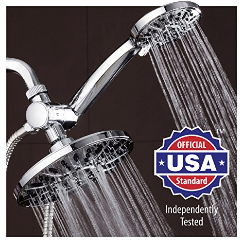 AquaDance-7-Premium-High-Pressure-3-way-Rainfall-Shower-Combo-Combines-the-Best-of-Both-Worlds-Enjoy-Luxurious-6-Setting-Rain-Showerhead-and-6-setting-Hand-Held-Shower-Separately-or-Together-0