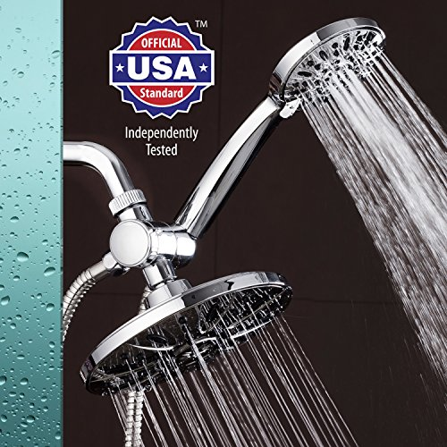 AquaDance-7-Premium-High-Pressure-3-way-Rainfall-Shower-Combo-Combines-the-Best-of-Both-Worlds-Enjoy-Luxurious-Rain-Showerhead-and-6-setting-Hand-Held-Shower-Separately-or-Together-0