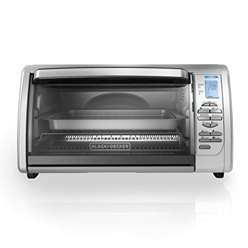 BLACKDECKER-CTO6335S-6-Slice-Digital-Convection-Countertop-Toaster-Oven-Includes-Bake-Pan-Broil-Rack-Toasting-Rack-Stainless-Steel-Digital-Convection-Toaster-Oven-0