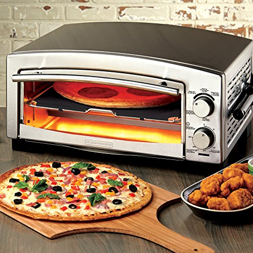 BLACKDECKER-P300S-5-Minute-Pizza-Oven-Snack-Maker-Pizza-Oven-Toaster-Oven-Stainless-Steel-0-0
