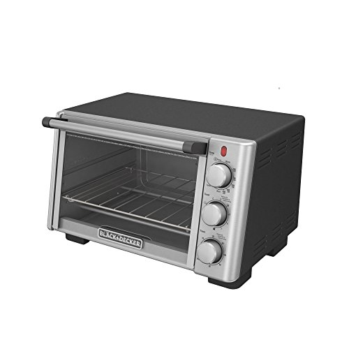 BLACKDECKER-TO2050S-6-Slice-Convection-Countertop-Toaster-Oven-Includes-Bake-Pan-Broil-Rack-Toasting-Rack-Stainless-SteelBlack-Convection-Toaster-Oven-0-0