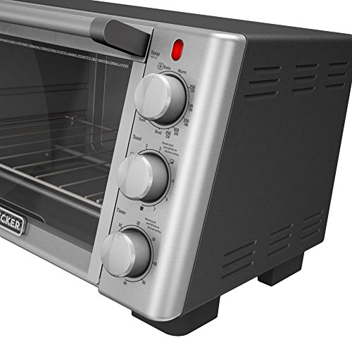 BLACKDECKER-TO2050S-6-Slice-Convection-Countertop-Toaster-Oven-Includes-Bake-Pan-Broil-Rack-Toasting-Rack-Stainless-SteelBlack-Convection-Toaster-Oven-0-1