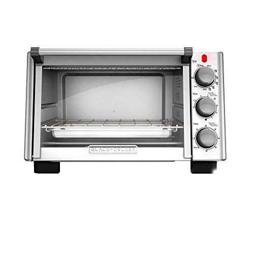 BLACKDECKER-TO2050S-6-Slice-Convection-Countertop-Toaster-Oven-Includes-Bake-Pan-Broil-Rack-Toasting-Rack-Stainless-SteelBlack-Convection-Toaster-Oven-0