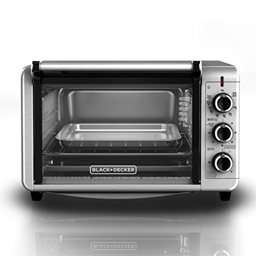 BLACKDECKER-TO3210SSD-6-Slice-Convection-Countertop-Toaster-Oven-Includes-Bake-Pan-Broil-Rack-Toasting-Rack-Stainless-SteelBlack-Convection-Toaster-Oven-0