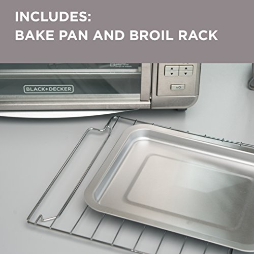 BLACKDECKER-TO3280SSD-6-Slice-Digital-Convection-Countertop-Toaster-Oven-Includes-Bake-Pan-Broil-Rack-Toasting-Rack-Stainless-Steel-Digital-Convection-Toaster-Oven-0-1