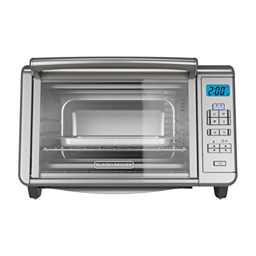 BLACKDECKER-TO3280SSD-6-Slice-Digital-Convection-Countertop-Toaster-Oven-Includes-Bake-Pan-Broil-Rack-Toasting-Rack-Stainless-Steel-Digital-Convection-Toaster-Oven-0