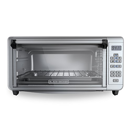 BLACKDECKER-TO3290XSD-8-Slice-Digital-Extra-Wide-Convection-Countertop-Toaster-Oven-Includes-Bake-Pan-Broil-Rack-Toasting-Rack-Stainless-Steel-Digital-Convection-Toaster-Oven-0