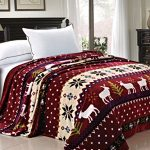 BNF-Home-Light-Weighted-Christmas-Collection-Printed-Flannel-Fleece-Blanket-0