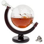 BarMe-850ml-Whiskey-Decanter-with-Dark-Finished-Wood-Stand-and-Bar-Funnel-0-1
