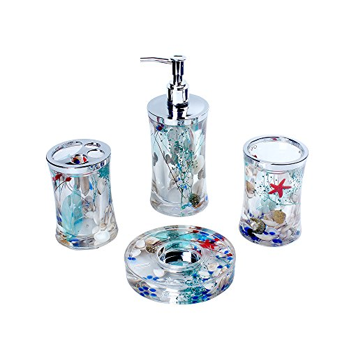 Bathroom-4-Pieces-Accessories-Set-with-Lovely-Flower-0