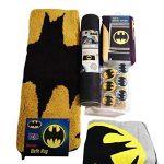 Batman-Bathroom-Set-Shower-Curtain-Hooks-Bath-Rug-Bath-Towel-and-Bath-Tub-Mat-0