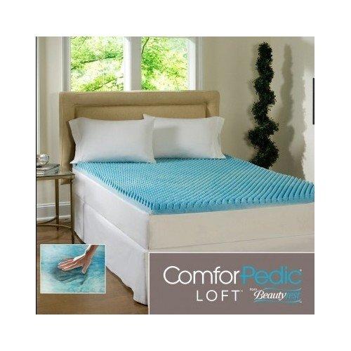 Beautyrest-3-inch-Sculpted-Gel-Memory-Foam-Mattress-Topper-Queen-by-ComforPedic-Loft-0