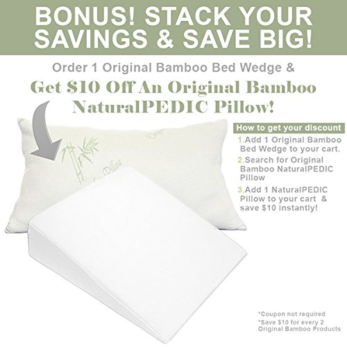 Bed-Wedge-Pillow-Made-in-Italy-Acid-Reflux-Relief-Pillows-26x25x11-Reduce-Neck-Pain-Back-Pains-Heartburn-Italian-Memory-Foam-Adjustable-Zipper-Hypoallergenic-0-0