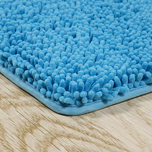 Bedford-Home-2-Piece-Memory-Foam-Shag-Bath-Mat-Blue-0-0