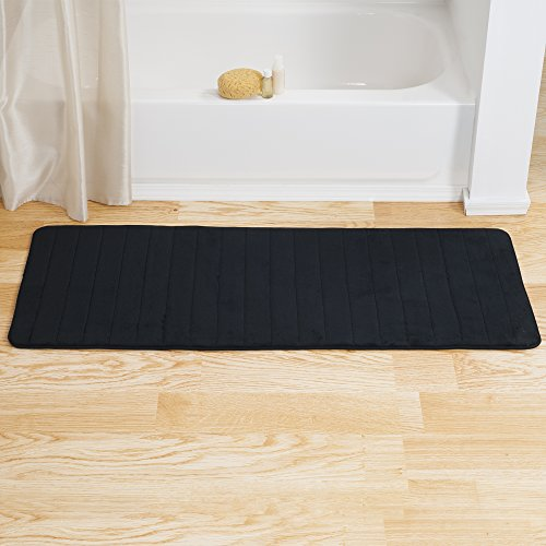 Bedford-Home-Memory-Foam-Striped-Extra-Long-Bath-Mat-0