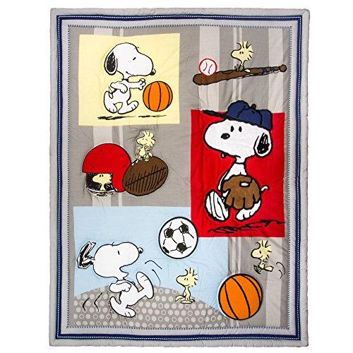 Bedtime-Originals-3-Piece-Snoopy-Sports-Bedding-Set-0-0