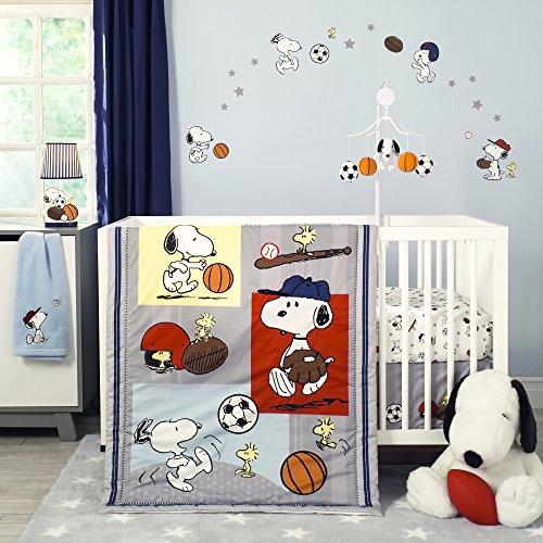 Bedtime-Originals-3-Piece-Snoopy-Sports-Bedding-Set-0