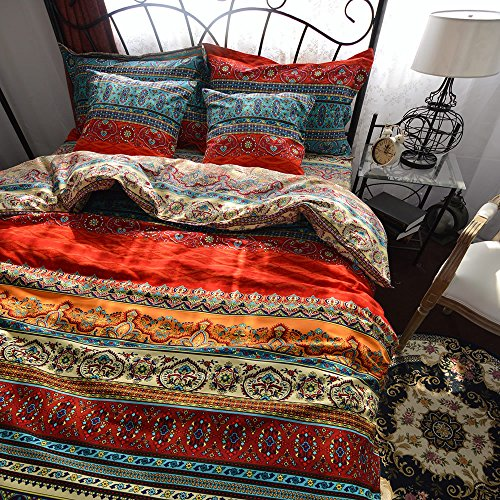 Best-4-Pieces-Bohemian-Exotic-Style-Bedding-Duvet-Cover-Sets-Queen-Size-Pattern2-0