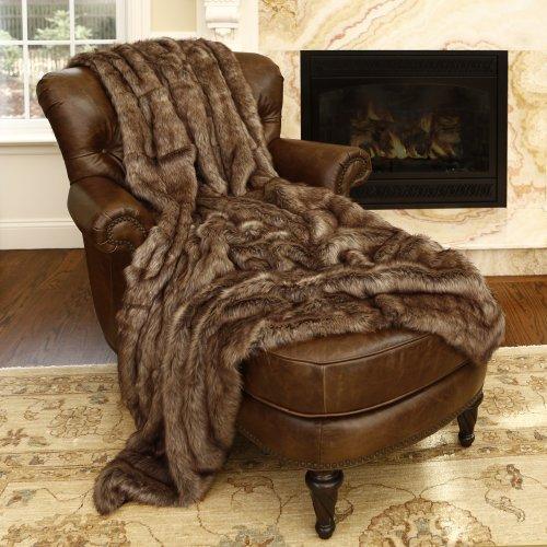 Best-Home-Fashion-Faux-Fur-Throw-Full-Blanket-Coyote-58W-x-84L-1-Throw-0
